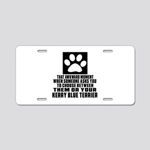 Kerry Blue Terrier Awkward Aluminum License Plate