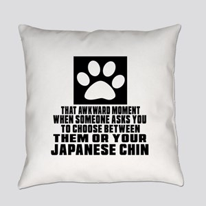 Japanese Chin Awkward Dog Designs Everyday Pillow