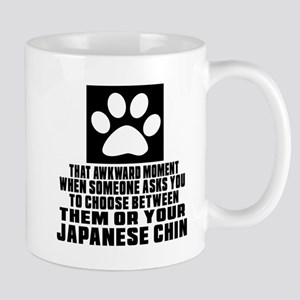 Japanese Chin Awkward Dog Designs Mug