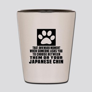 Japanese Chin Awkward Dog Designs Shot Glass