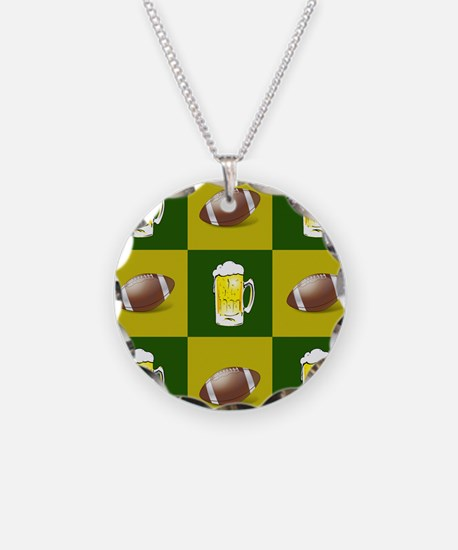 football and beer Necklace