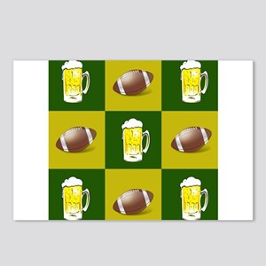 football and beer Postcards (Package of 8)