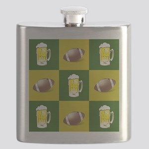football and beer Flask