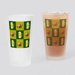 football and beer Drinking Glass