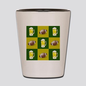 football and beer Shot Glass