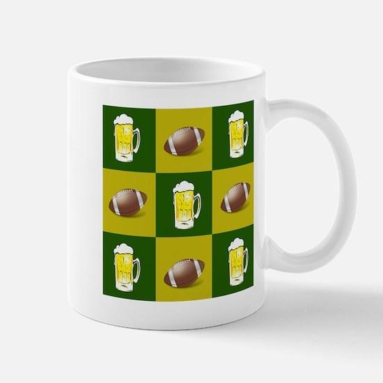 football and beer Mugs