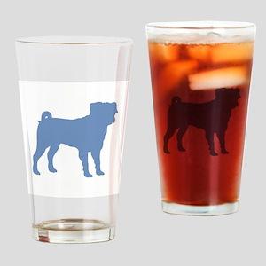 Pug Lt Blue 1C Drinking Glass