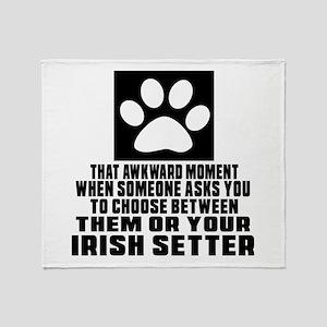 Irish Setter Awkward Dog Designs Throw Blanket