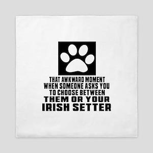 Irish Setter Awkward Dog Designs Queen Duvet