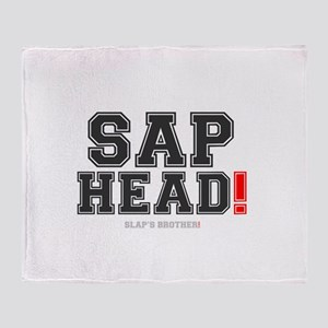 SAP HEAD - SLAPS BROTHER! Throw Blanket