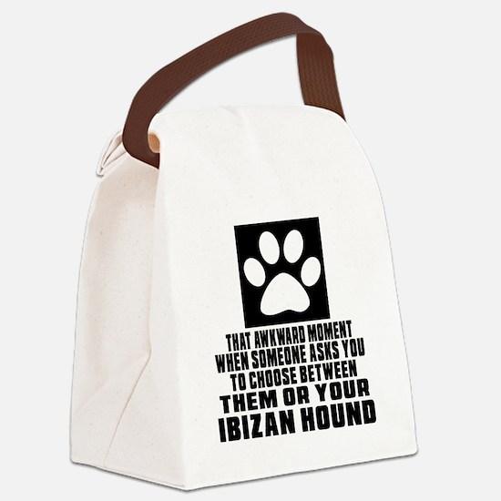 Ibizan Hound Awkward Dog Designs Canvas Lunch Bag