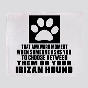 Ibizan Hound Awkward Dog Designs Throw Blanket