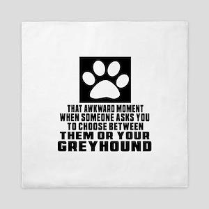 Greyhound Awkward Dog Designs Queen Duvet