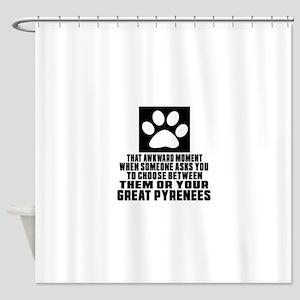 Great Pyrenees Awkward Dog Designs Shower Curtain