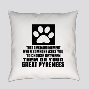 Great Pyrenees Awkward Dog Designs Everyday Pillow