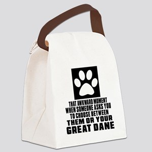Great Dane Awkward Dog Designs Canvas Lunch Bag