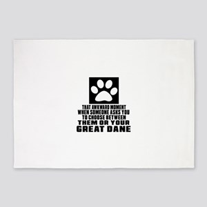 Great Dane Awkward Dog Designs 5'x7'Area Rug