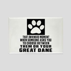 Great Dane Awkward Dog Designs Rectangle Magnet