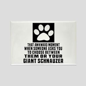 Giant Schnauzer Awkward Dog Desig Rectangle Magnet