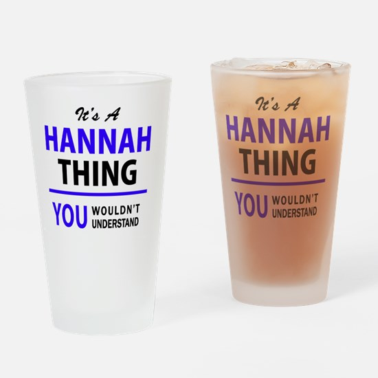 Funny Hannah Drinking Glass