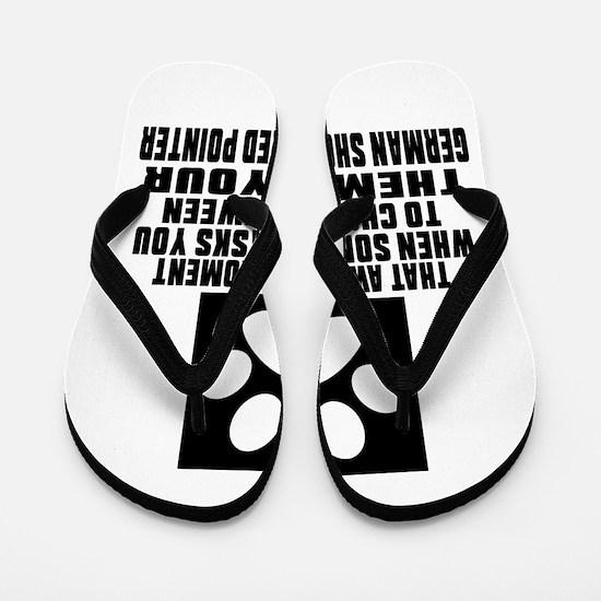 German Shorthaired Pointer Awkward Dog Flip Flops
