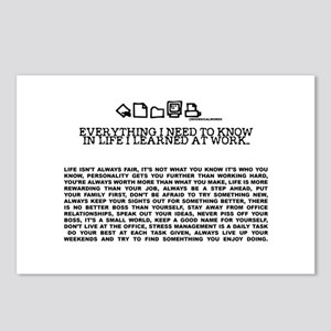 EVERYTHING I NEED TOKNOW IN LIFE-WORK Postcards (P