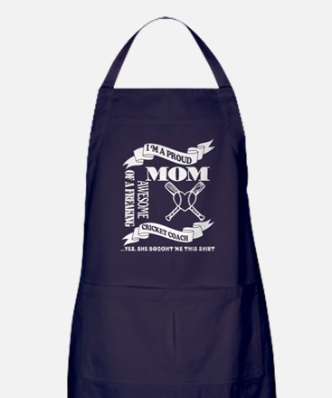 Proud Mom Of An Awesome Cricket Coach Apron (dark)