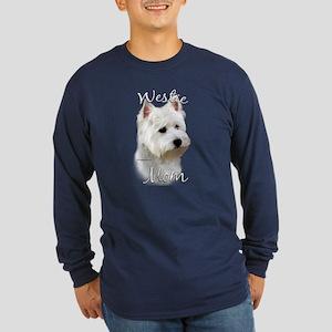 Westie Mom2 Long Sleeve Dark T-Shirt