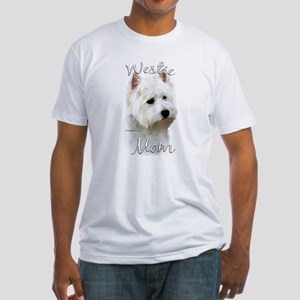 Westie Mom2 Fitted T-Shirt