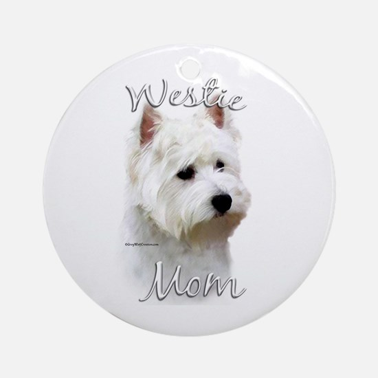 Westie Mom2 Ornament (Round)
