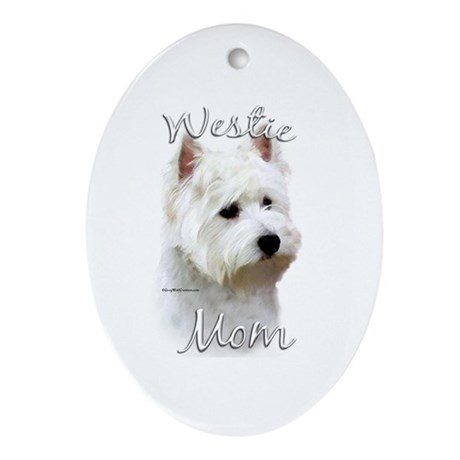 Westie Mom2 Oval Ornament