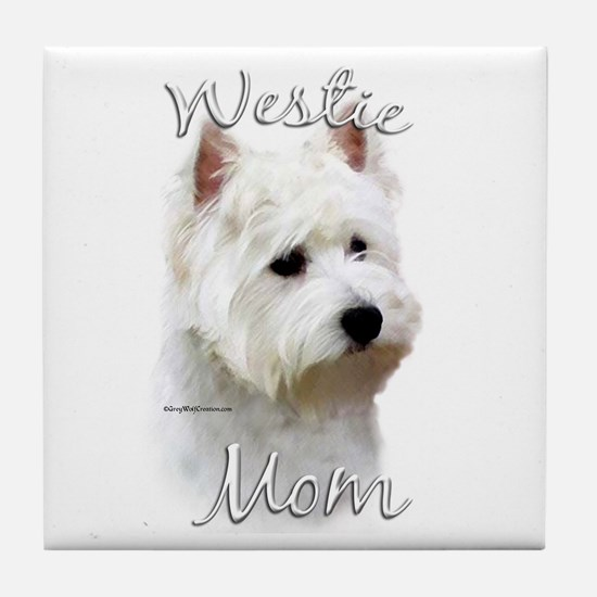 Westie Mom2 Tile Coaster
