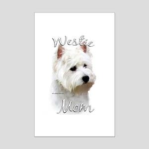 Westie Mom2 Mini Poster Print