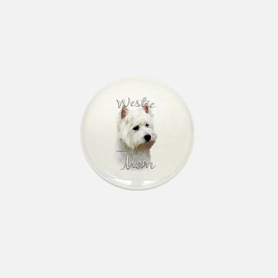Westie Mom2 Mini Button