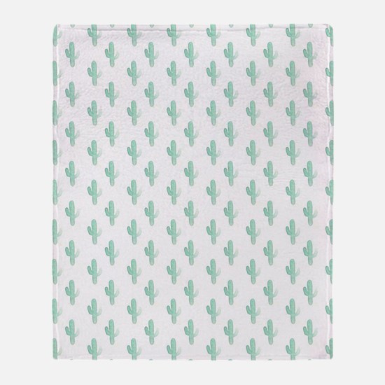 Cute Cactus Throw Blanket
