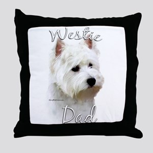 Westie Dad2 Throw Pillow