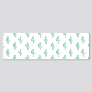Watercolor Cactus Pattern Bumper Sticker