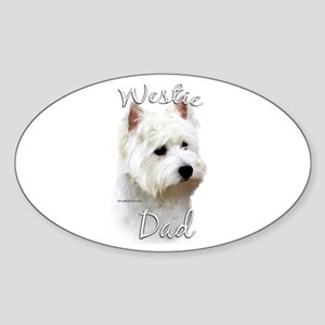 Westie Dad2 Oval Sticker