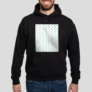 Watercolor Cactus Pattern Hoodie (dark)