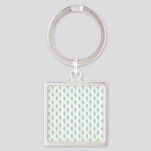 Watercolor Cactus Pattern Keychains