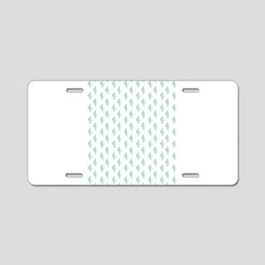 Watercolor Cactus Pattern Aluminum License Plate