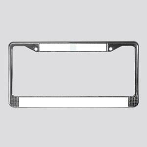 Watercolor Cactus Pattern License Plate Frame