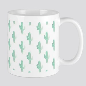 Watercolor Cactus Pattern Mugs