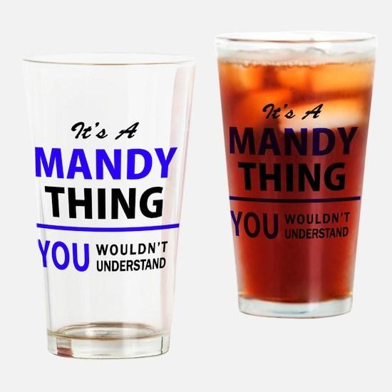 Unique Mandy Drinking Glass
