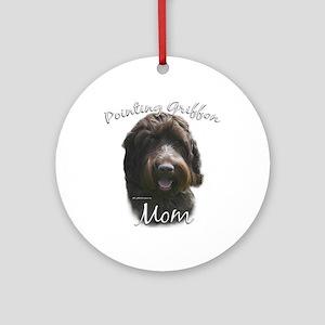 Griffon Mom2 Ornament (Round)
