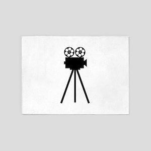 Movie Projector 5'x7'Area Rug