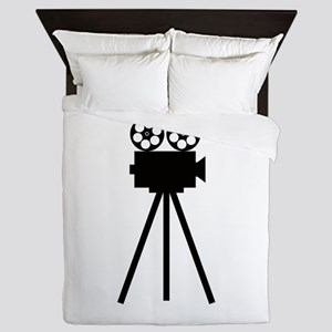 Movie Projector Queen Duvet