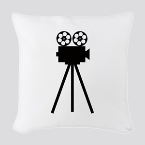 Movie Projector Woven Throw Pillow