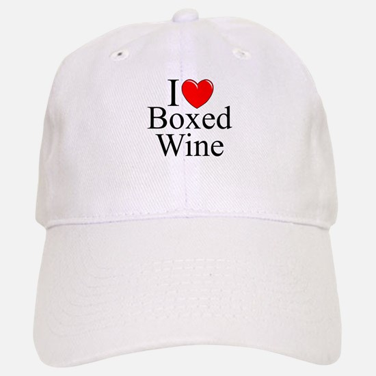 """I Love (Heart) Boxed Wine"" Baseball Baseball Cap"