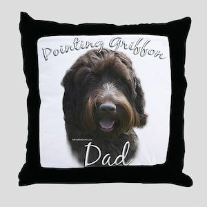 Griffon Dad2 Throw Pillow